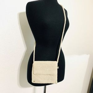 The Sak Crocheted Crossbody Bag Beige